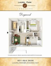 dogwood floor plan laurel park apts landmark companies