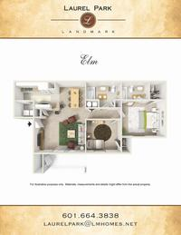 elm floor plan laurel park apts landmark companies