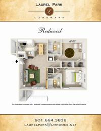 redwood floor plan laurel park apts landmark companies