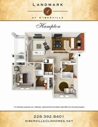 hampton floor plan diberville
