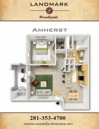 landmark woodlands floor plan amherst