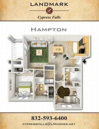 landmark cypress falls apts hampton floor plan