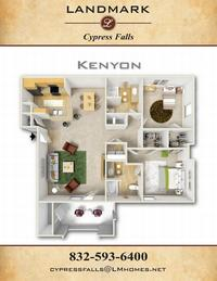 landmark at cypress falls kenyon floor plan