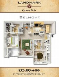 landmark at cypress falls apts belmont floor plan
