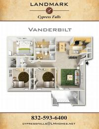 landmark of cypress falls apts vanderbilt floor plan