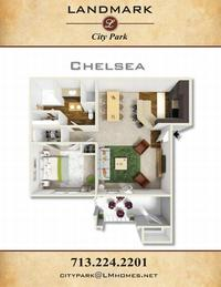landmark city park apts chelsea floor plan