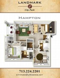 landmark at city park apts hampton floor plan