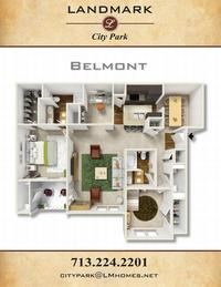 landmark of city park apts belmont floor plan