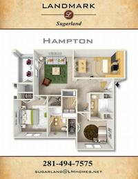 landmark sugarland apts hampton floor plan