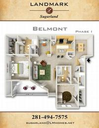 landmark sugarland apts floor plan belmont I