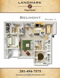 landmark sugarland apts floor plan belmont II