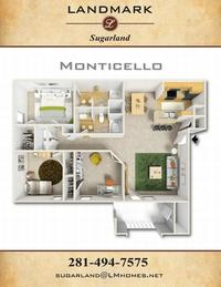 landmark sugarland apts floor plan monticello